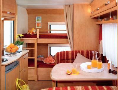 Caravana caravelair ambiance style 510 modelo de 2009 - Interior caravana ...